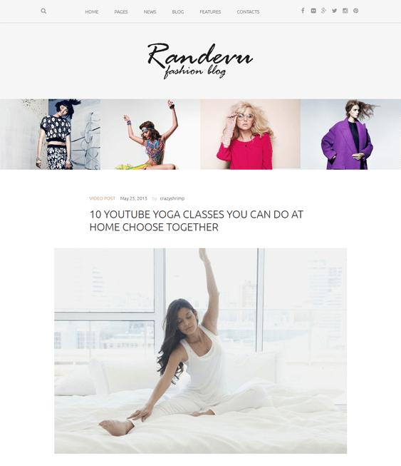 randevu fashion blog wordpress themes
