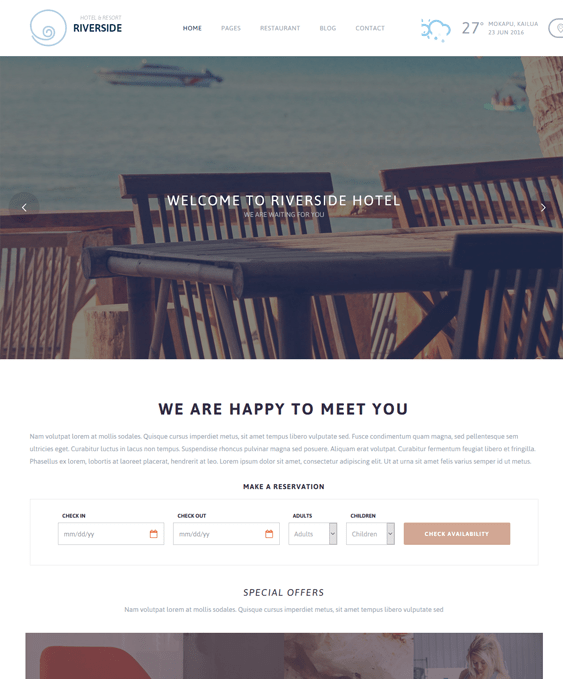 riverside hotel wordpress themes