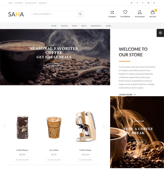 saha food drink wordpress themes
