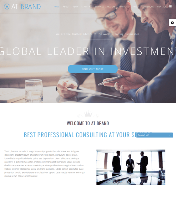 at brand one page joomla templates
