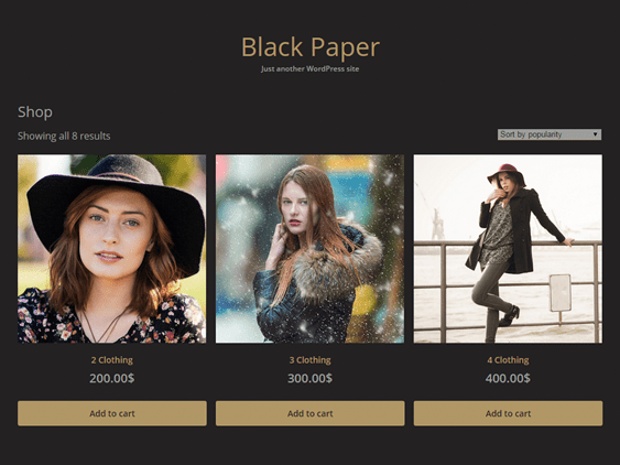 black paper free dark wordpress themes