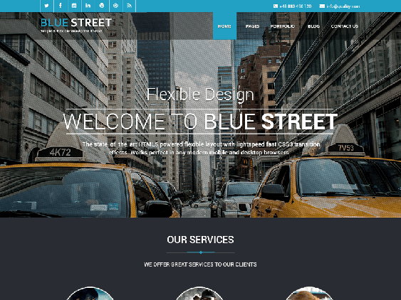 bluestreet free dark wordpress themes
