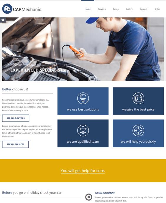 business automotive car vehicle wordpress themes
