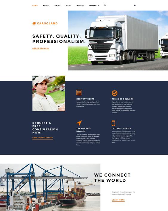 cargoland transportation joomla templates