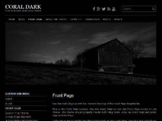 coral free dark wordpress themes