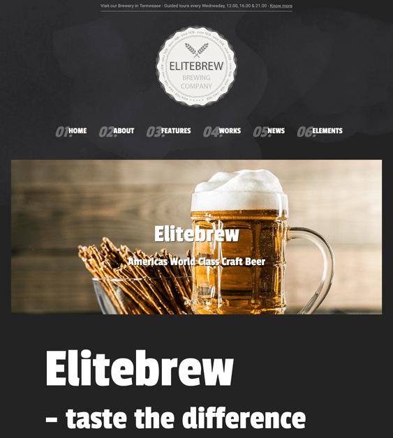 elitebrew dark wordpress themes