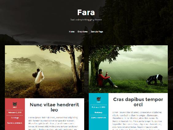 fara free dark wordpress themes