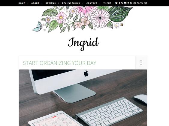 ingrid free feminine wordpress themes