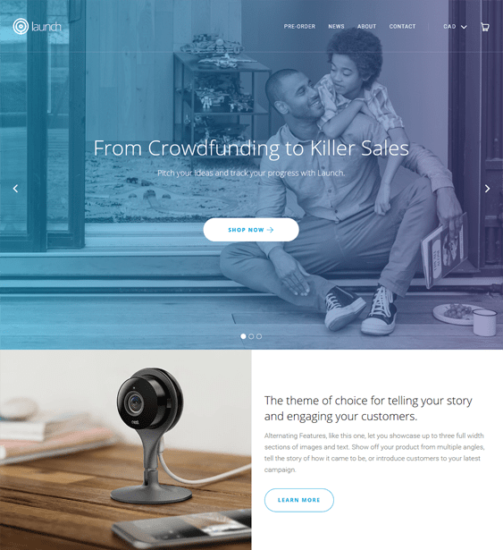 launch cool electronics shopify themes