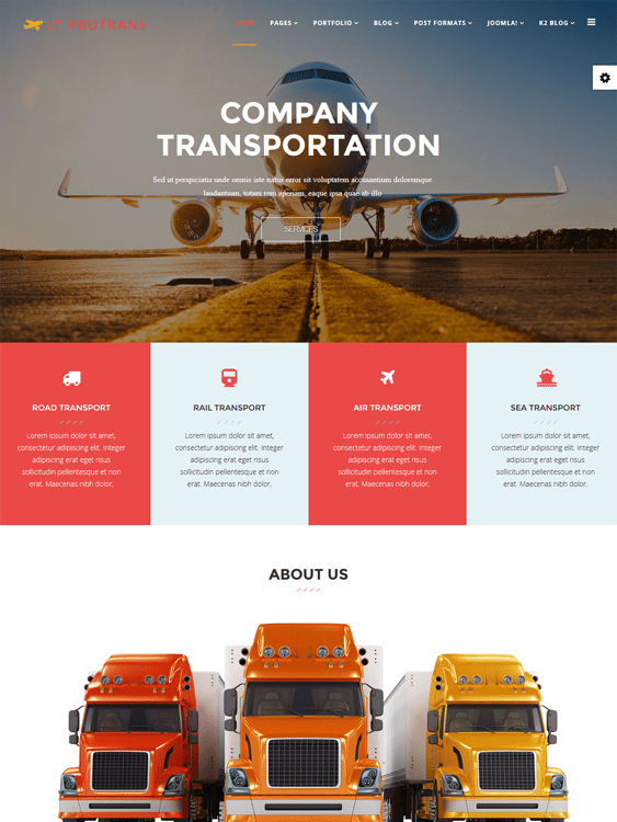 lt protrans transportation joomla templates
