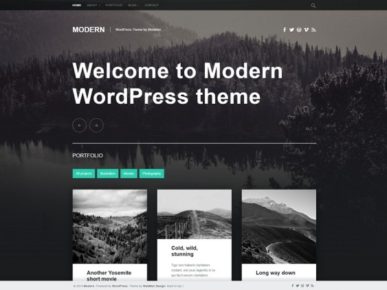 modern free dark wordpress themes