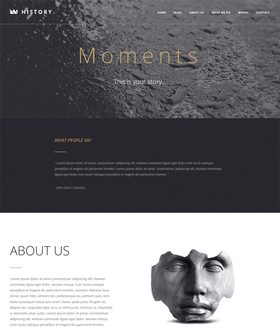 moments one page wordpress themes