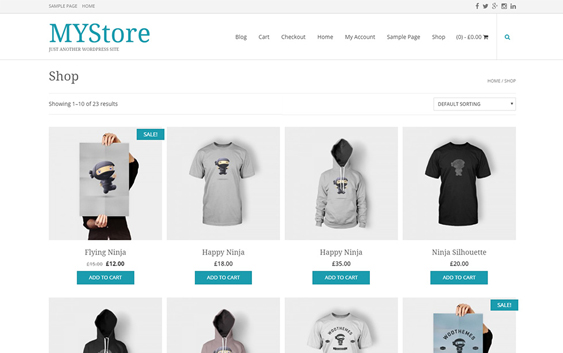 mystore free woocommerce themes