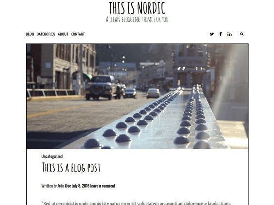 nordi free minimal wordpress themes