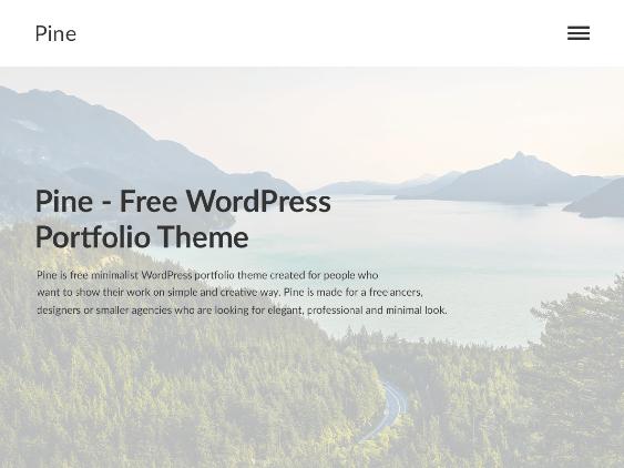 pine free minimal wordpress themes