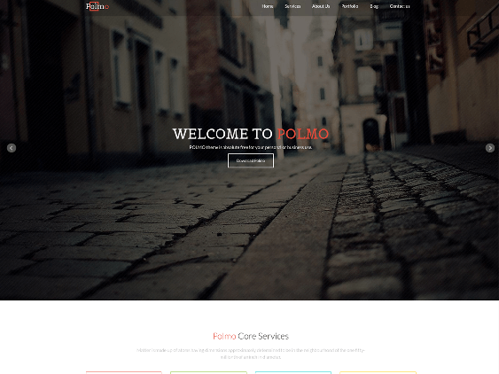 polmo free one page wordpress themes