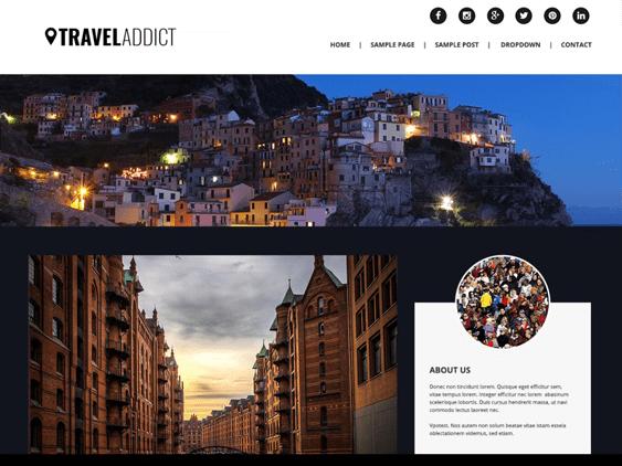 traveladdict free parallax wordpress themes