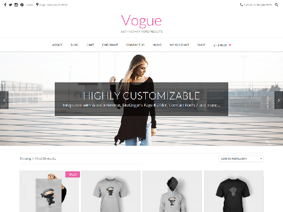 vogue free woocommerce themes
