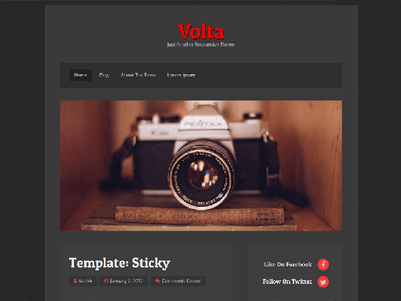volta free dark wordpress themes