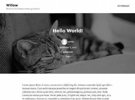 willow free minimal wordpress themes
