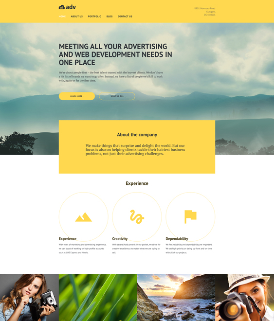 adv parallax wordpress themes