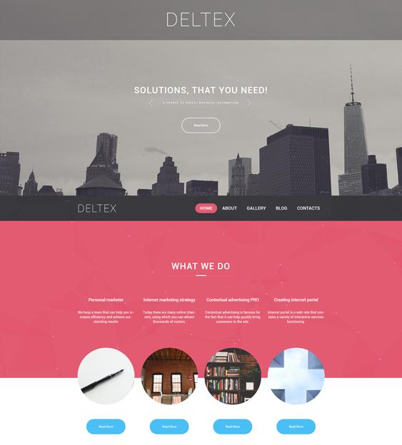 deltex parallax wordpress themes