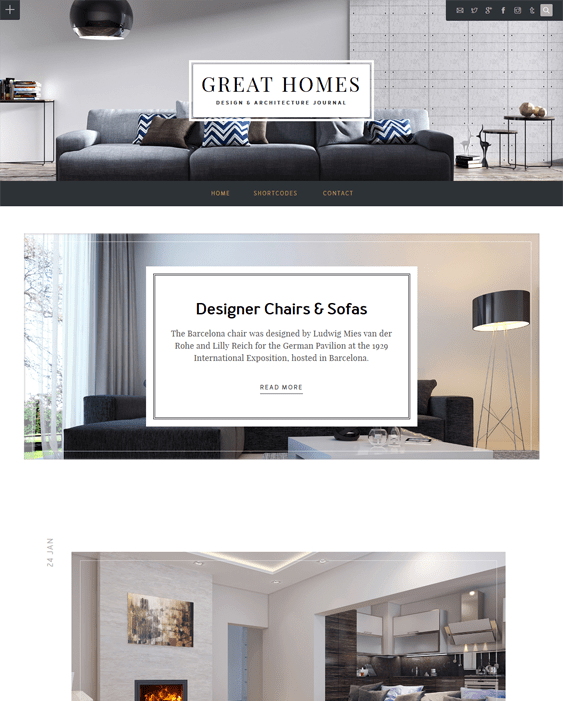 great homes architecture wordpress themes