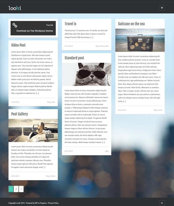 looki masonry wordpress themes
