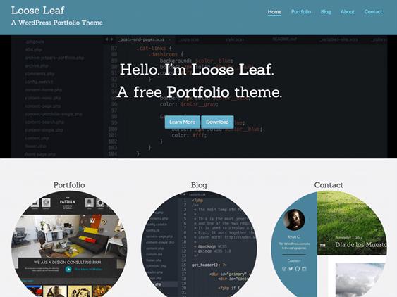 loose leaf free masonry wordpress themes