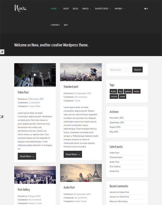 nova masonry wordpress themes