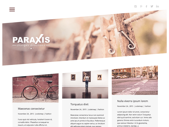 paraxis free parallax wordpress themes