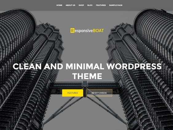 responsiveboat free parallax wordpress themes