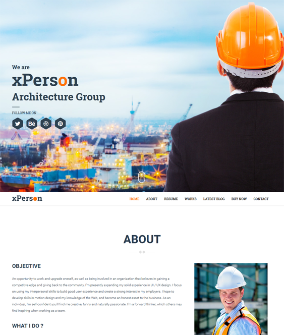 xperson architecture wordpress themes
