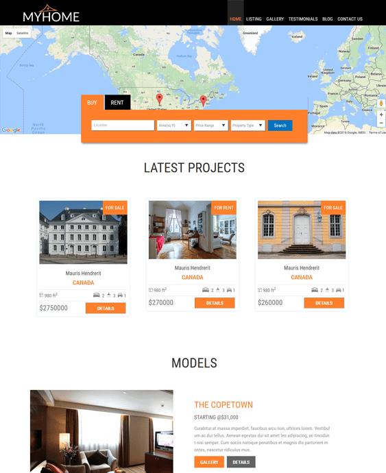 myhome real estate wordpress themes