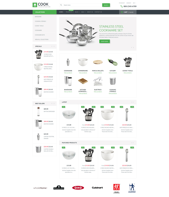 Cook responsive shopify themes