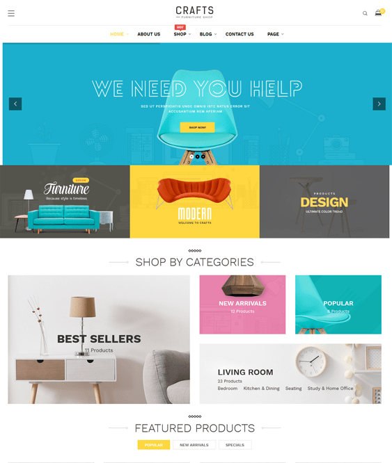 craft furniture wordpress themes