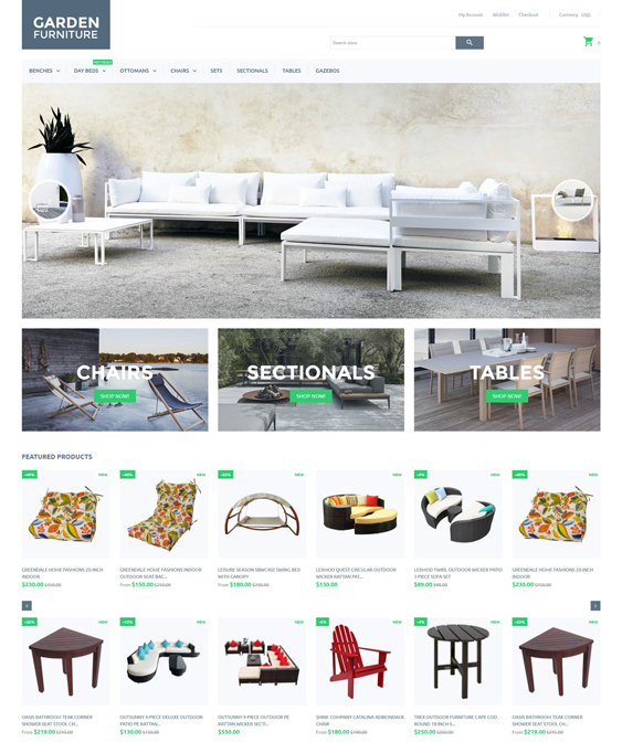 Garden shopify themes furniture homewares