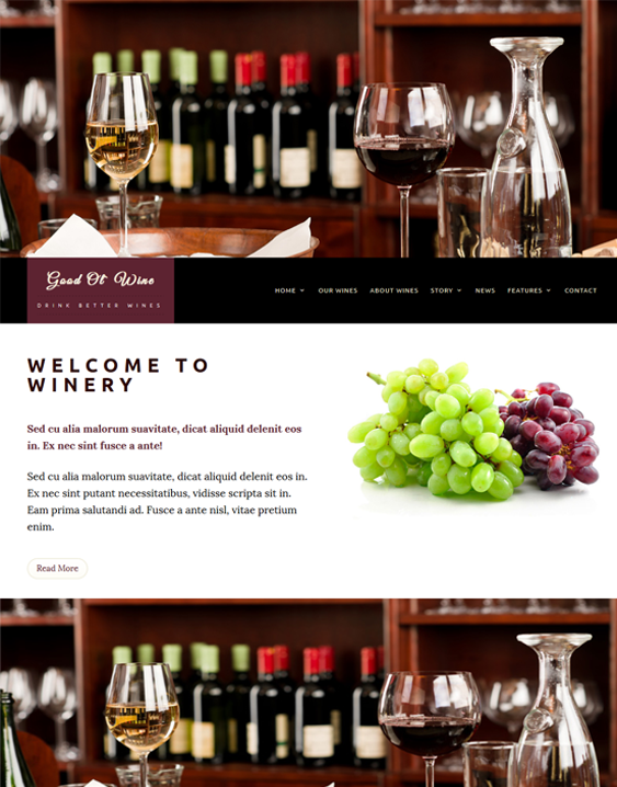 good ol wine food drink wordpress themes