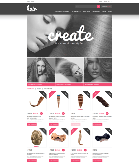 hair products prestashop themes extensions