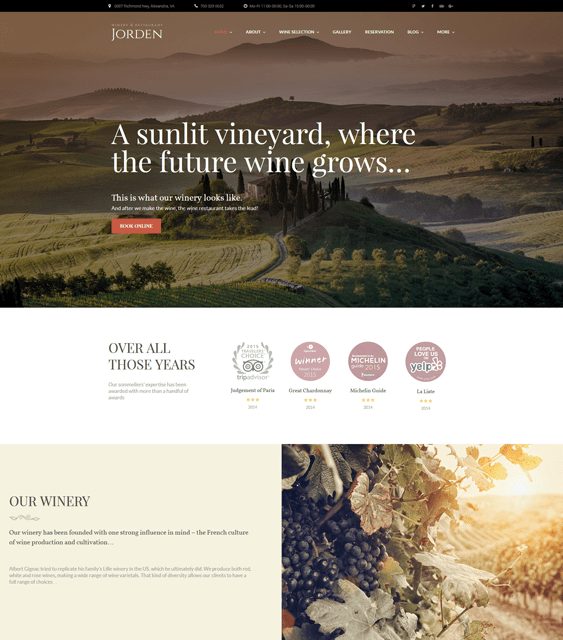jorden food drink wordpress themes