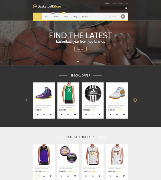 basketball sports woocommerce themes