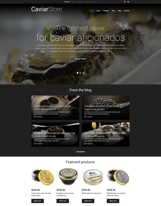 caviar food drink woocommerce themes
