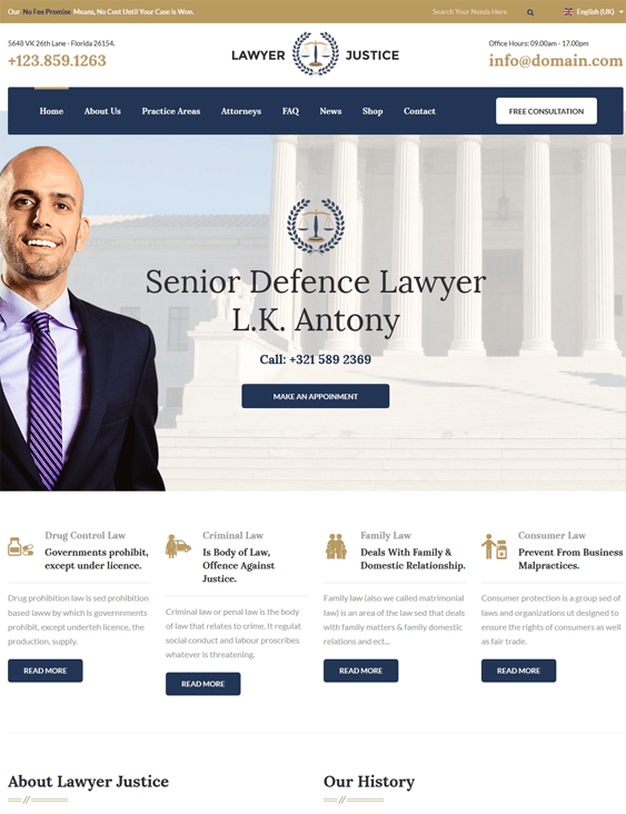 lawyers law firms joomla templates justice