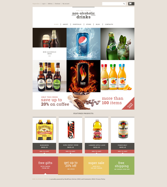 nonalcoholic food drink woocommerce themes