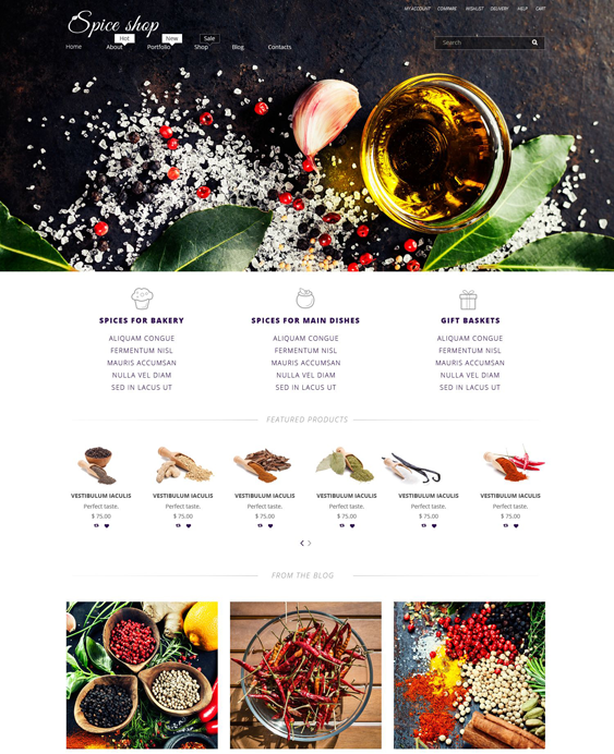 spice food drink woocommerce themes