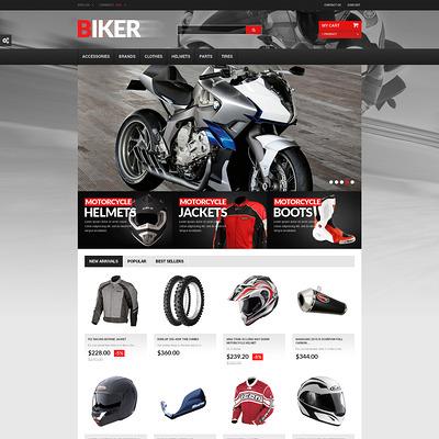 Biker PrestaShop Theme (PrestaShop theme for car, vehicle, and automotive stores) Item Picture