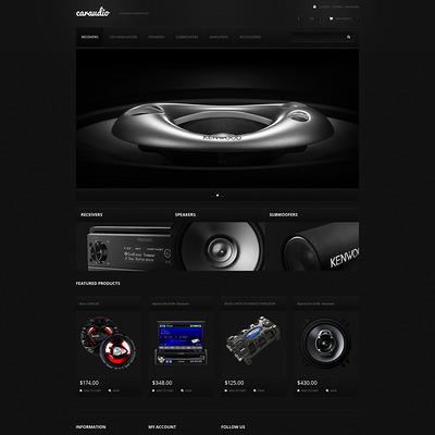 Car Audio Systems PrestaShop Theme (PrestaShop theme for car, vehicle, and automotive stores) Item Picture