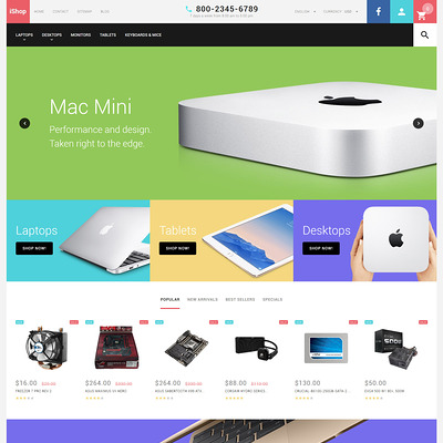 Computer Store Responsive PrestaShop Theme (PrestaShop theme for selling computers and accessories) Item Picture