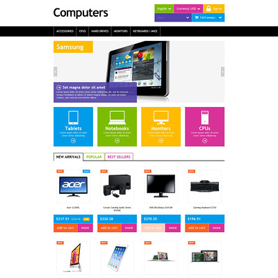 Computers PrestaShop Theme (PrestaShop theme for selling computers and accessories) Item Picture