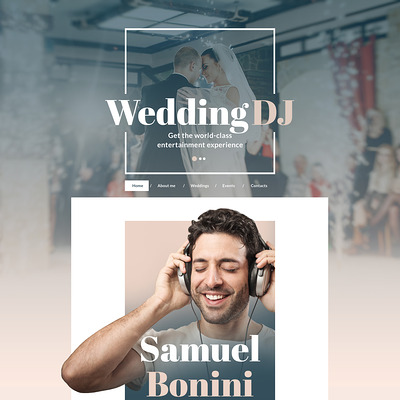 DJ Responsive Website Template (Bootstrap template for music websites) Item Picture